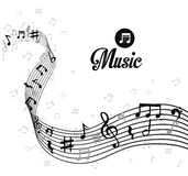 Music digital design. Stock Photos