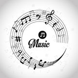 Music digital design. Royalty Free Stock Images