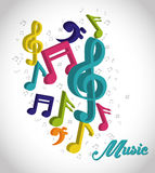 Music digital design. Royalty Free Stock Photography