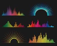 Music digital waveforms Stock Photos