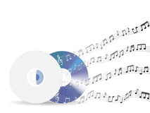 Music disc with floating sample random music note not match any song Royalty Free Stock Images