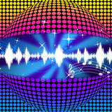 Music Disco Ball Background Means Soundwaves And Partying Royalty Free Stock Photography