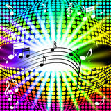 Music Disco Ball Background Shows Songs Dancing And Beams vector illustration