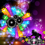 Music Disco Flyer for Dancing Events Royalty Free Stock Photo