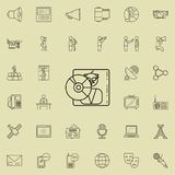 Music disk icon. Detailed set of Media icons. Premium quality graphic design sign. One of the collection icons for websites, web d. Esign, mobile app on colored royalty free illustration