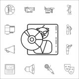 Music diskicon. Media icons universal set for web and mobile. On white background vector illustration
