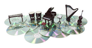 Music Disks Stock Image