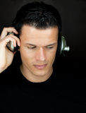 Music dj. Male portrait of young discjockey music entertainer Royalty Free Stock Photo