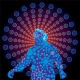 Music-DJ. Dj mixing music, vector illustration Royalty Free Stock Image