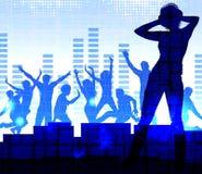 Music dj, nightparty background. Music dj, nightparty vector background Stock Photography