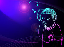 Music. DJ and notes Royalty Free Stock Images