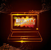 Music dj party theme. Design, vector illustration eps 10 Royalty Free Stock Images