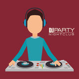 Music dj party theme Stock Photo