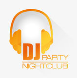 Music dj party theme Royalty Free Stock Image