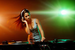 Free Music Dj Woman Stock Photography - 34403912