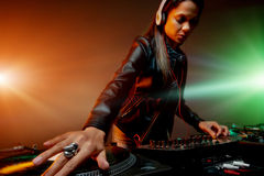 Music DJ woman Royalty Free Stock Photo
