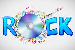 Music Doddle around CD Stock Images