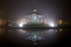 Music dome in the mist Royalty Free Stock Images