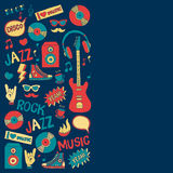 Music doodle vector set. Hand drawn pictures Royalty Free Stock Photography