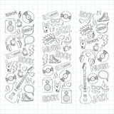 Music doodle vector set. Hand drawn pictures Stock Image