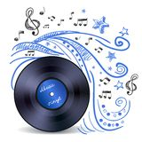 Music Doodle Vinyl Royalty Free Stock Photography