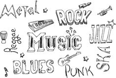 Music doodles Royalty Free Stock Photos