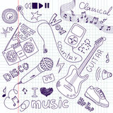 Music Doodles Stock Photos