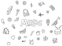 Music - doodles collection Stock Photo