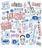 Music doodles Royalty Free Stock Photo