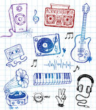 Music doodles Stock Images