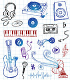 Music doodles Stock Image