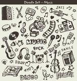Music doodles Royalty Free Stock Image