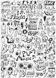 Music doodles set Stock Images