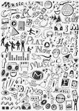 Music doodles set Royalty Free Stock Images