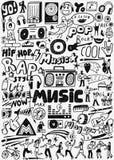 Music doodles set stock illustration