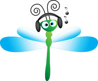 Music dragon fly Royalty Free Stock Image