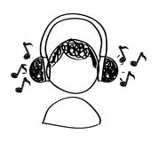 Music drawing Royalty Free Stock Images