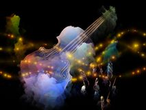 Dreams of Old Violin royalty free stock photography
