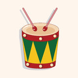 Music drum theme elements vector,eps. Vector illustration file Royalty Free Stock Photos