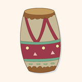 Music drum theme elements vector,eps. Vector illustration file Stock Images
