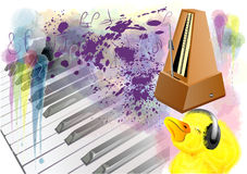 Music and duck Royalty Free Stock Image