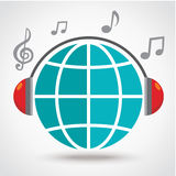 Music on earth Stock Images