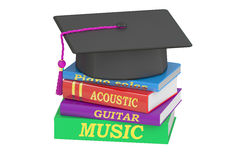 Music Education concept, 3D rendering. On white background Stock Photos