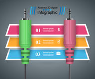 Music education Infographic. Audio input, output Royalty Free Stock Images