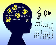 Music Education and Intelligence Stock Image