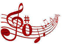 Music element. On white background vector illustration Royalty Free Stock Photos