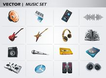 Music elements Royalty Free Stock Images
