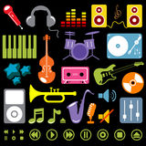 Music elements vector Stock Image