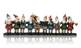 Music Elves At Christmas Royalty Free Stock Images