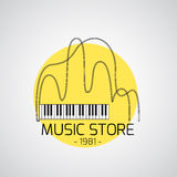 Music emblem Royalty Free Stock Photos